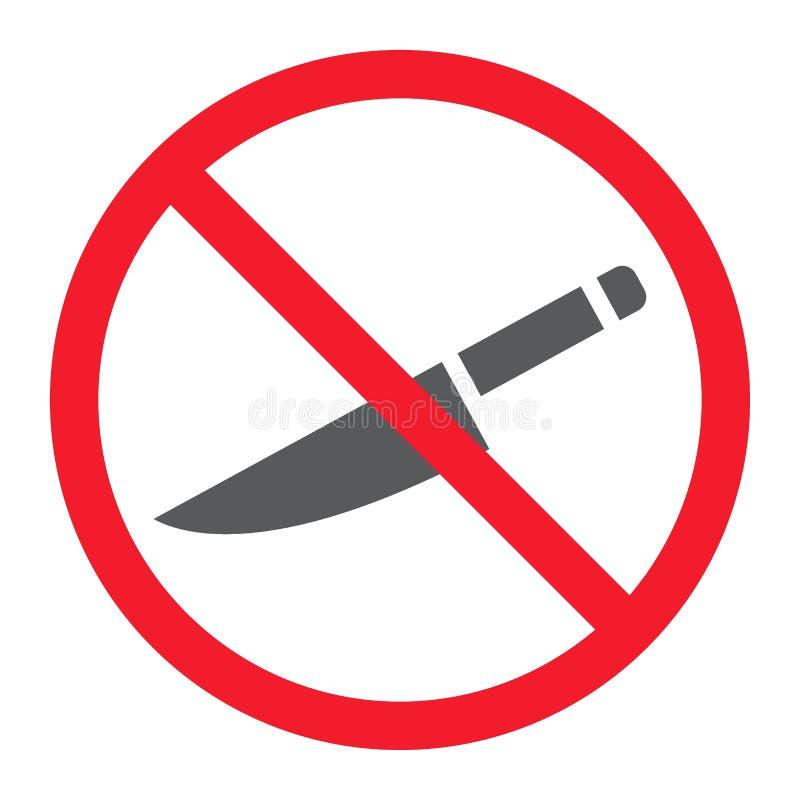 Keine scharfe Glyphikone, Verbot und verboten lizenzfreie abbildung