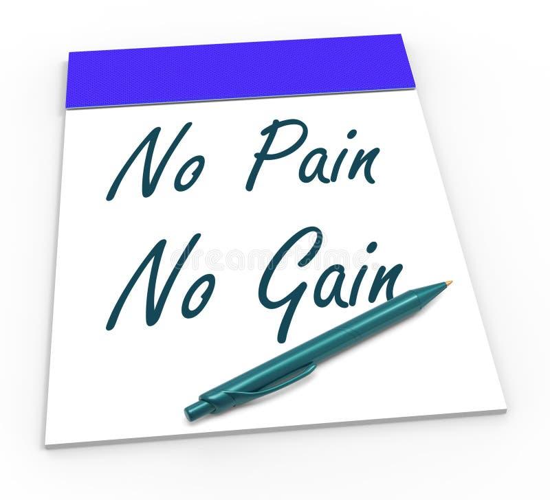 Keine Schmerz keine Gewinn-Durchschnitte Mühe und Leistungen vektor abbildung