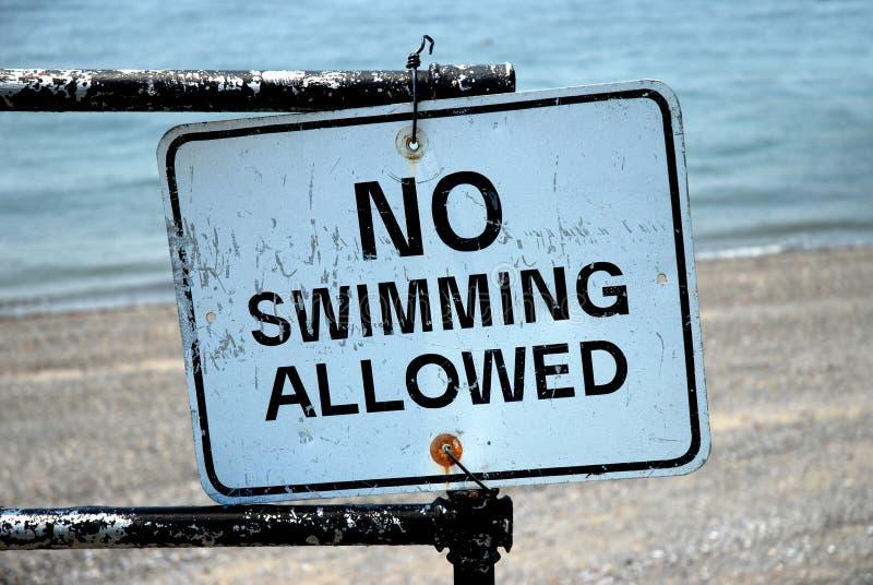 Keine Schwimmen erlaubt lizenzfreie stockbilder