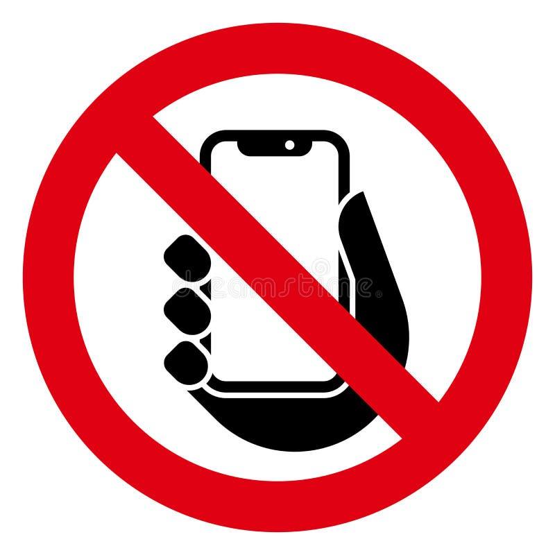 Keine Telefonikone lizenzfreie abbildung