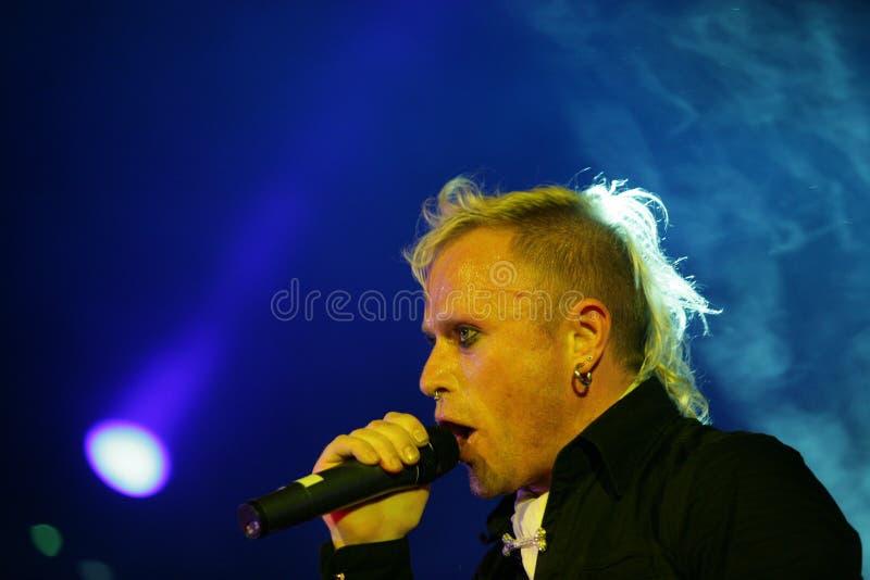 Keith Flinth, το θαύμα, συναυλία στη Ρωσία 2005 στοκ φωτογραφία