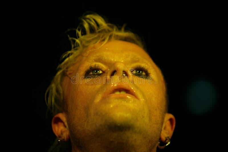 Keith Flinth, Prodigy, concerto em R?ssia 2005 fotos de stock