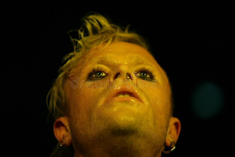 Keith Flinth, Prodigy, Konzert in Russland 2005 stockfotos
