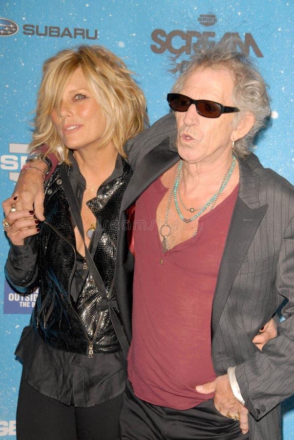 Keith Richards, Patti Hansen photo libre de droits