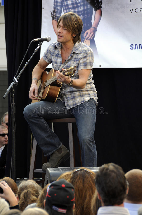 Keith Urban performing live stock photo