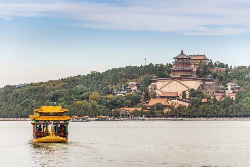 Keizer de Zomerpaleis in Peking, China stock fotografie