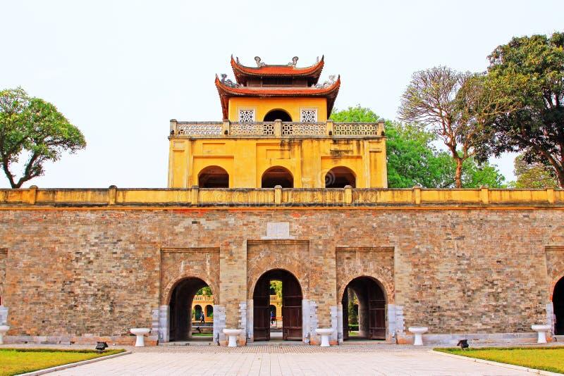 Keizer Lange Citadel van Thăng, de Werelderfenis van Unesco van Vietnam stock fotografie
