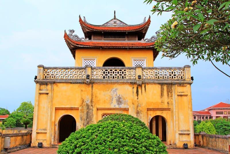 Keizer Lange Citadel van Thăng, de Werelderfenis van Unesco van Vietnam royalty-vrije stock foto's