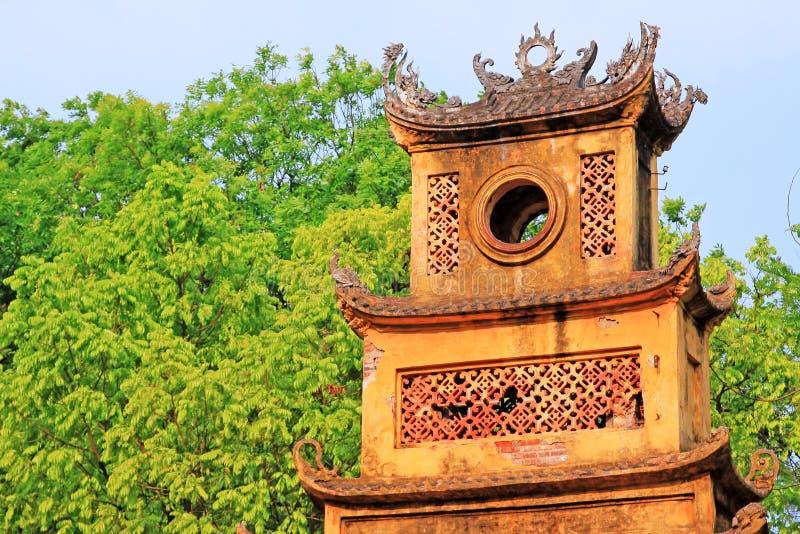 Keizer Lange Citadel van Thăng, de Werelderfenis van Unesco van Vietnam stock foto