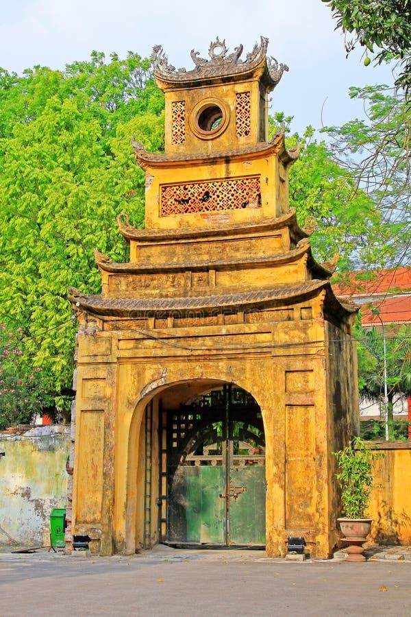 Keizer Lange Citadel van Thăng, de Werelderfenis van Unesco van Vietnam stock afbeeldingen
