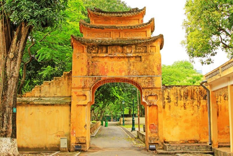 Keizer Lange Citadel van Thăng, de Werelderfenis van Unesco van Vietnam stock afbeelding