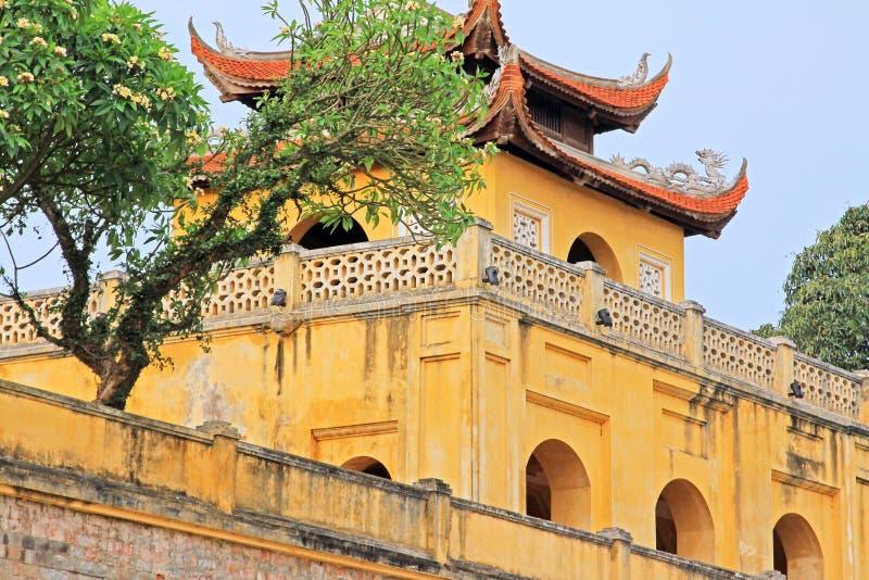 Keizer Lange Citadel van Thăng, de Werelderfenis van Unesco van Vietnam royalty-vrije stock foto