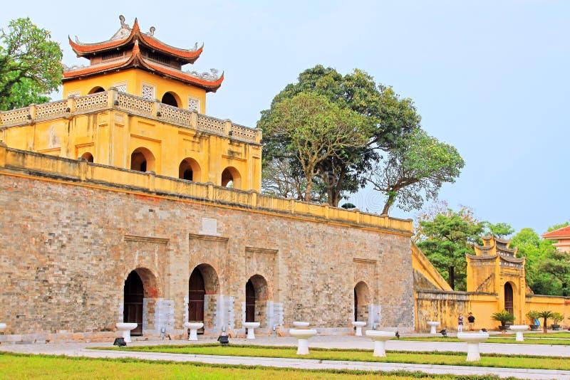 Keizer Lange Citadel van Thăng, de Werelderfenis van Unesco van Vietnam royalty-vrije stock afbeelding