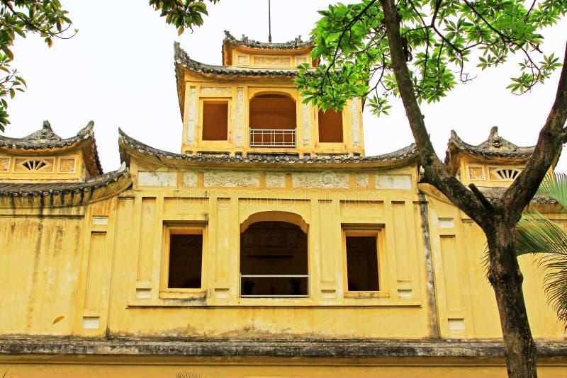 Keizer Lange Citadel van Thăng, de Werelderfenis van Unesco van Vietnam royalty-vrije stock afbeeldingen