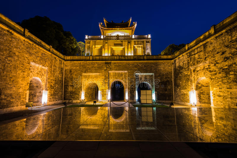 Keizercitadel van Hanoi stock fotografie
