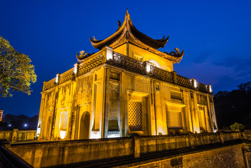 Keizercitadel van Hanoi stock foto
