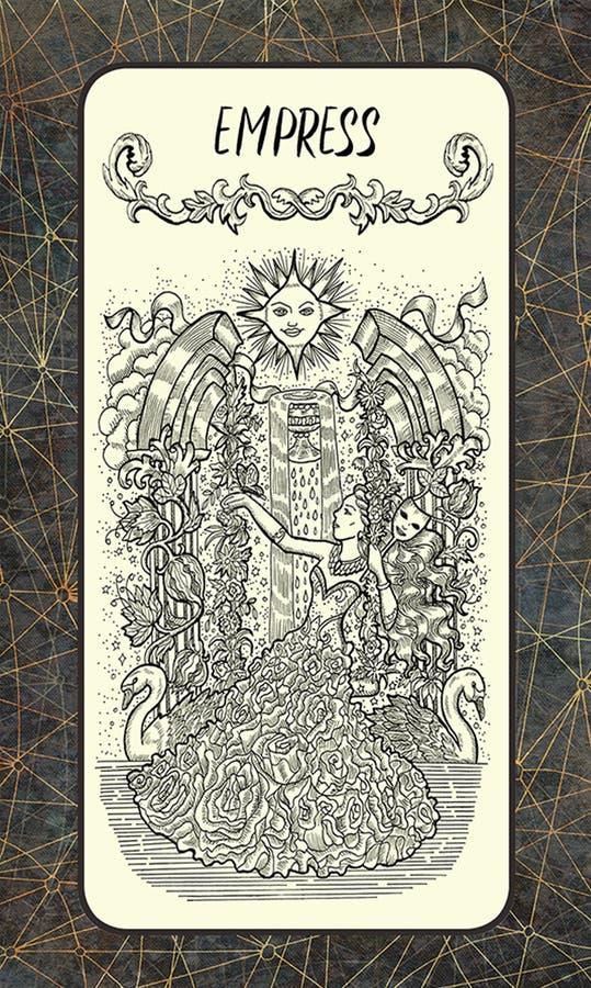 keizerin Major Arcana Tarot Card stock illustratie