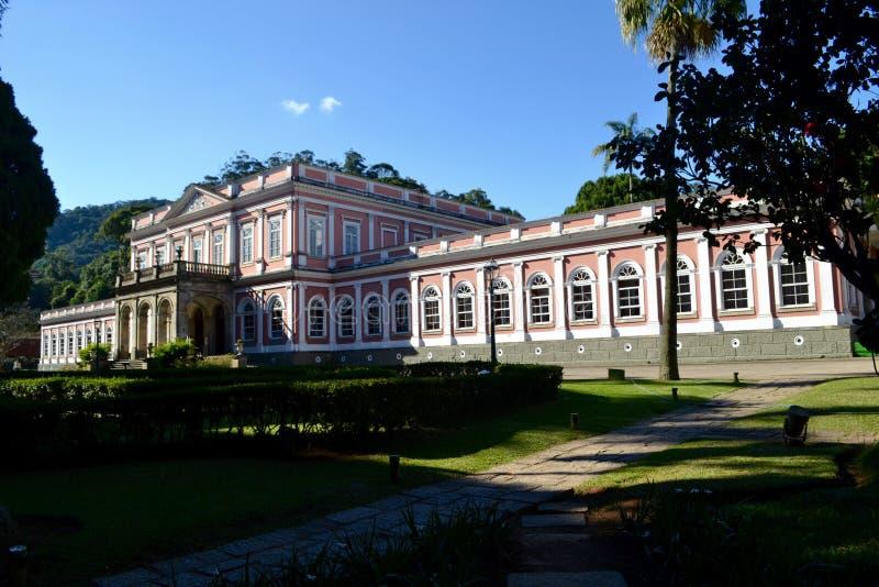 Keizermuseum van Petropolis, RJ stock afbeelding