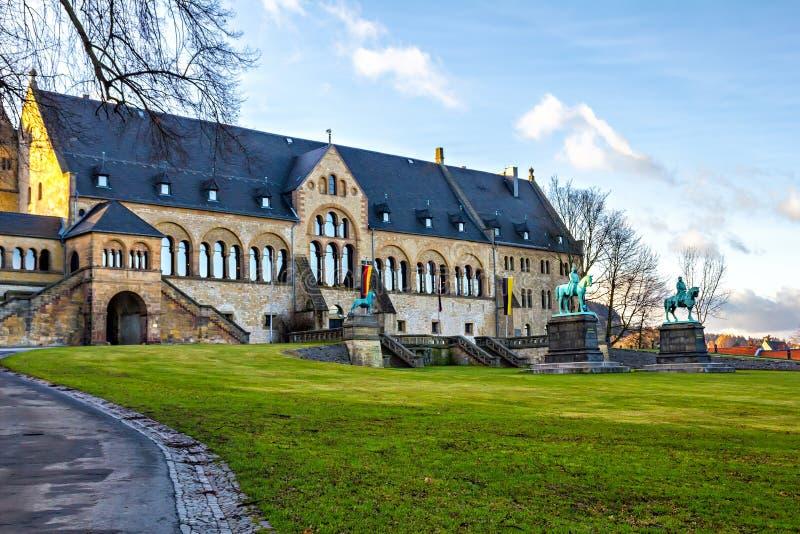 Keizerpaleis in Goslar stock afbeelding