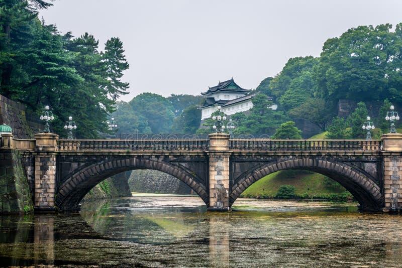 Keizerpaleis & Nijubashi-Brug, Tokyo royalty-vrije stock foto