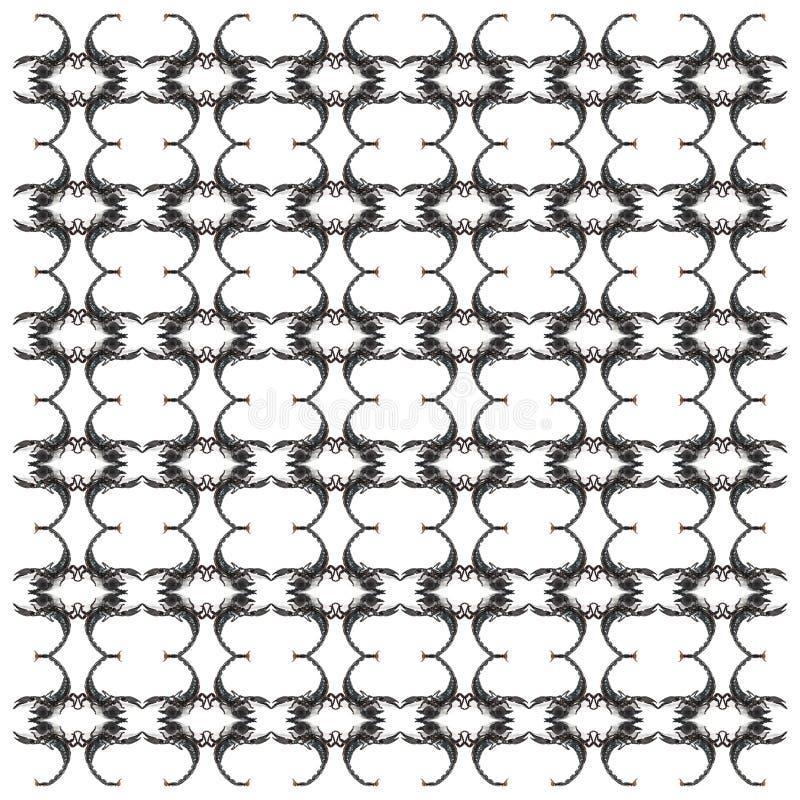Keizerschorpioen, Pandinus-imperator, in herhaald patroon vector illustratie