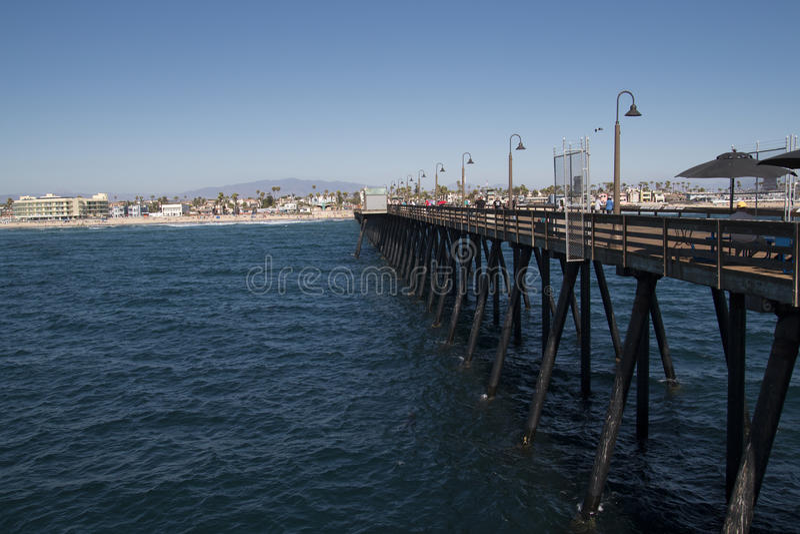 Keizerstrandpijler dichtbij San Diego Van de binnenstad, Californië stock foto's