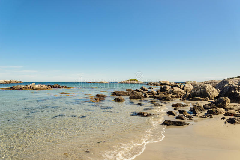 Keji Seaside beach. (South Shore, Nova Scotia, Canada royalty free stock image