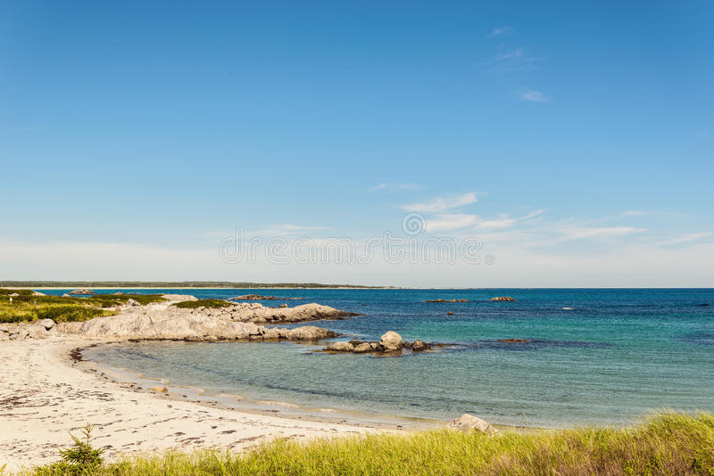 Keji Seaside beach. (South Shore, Nova Scotia, Canada royalty free stock images