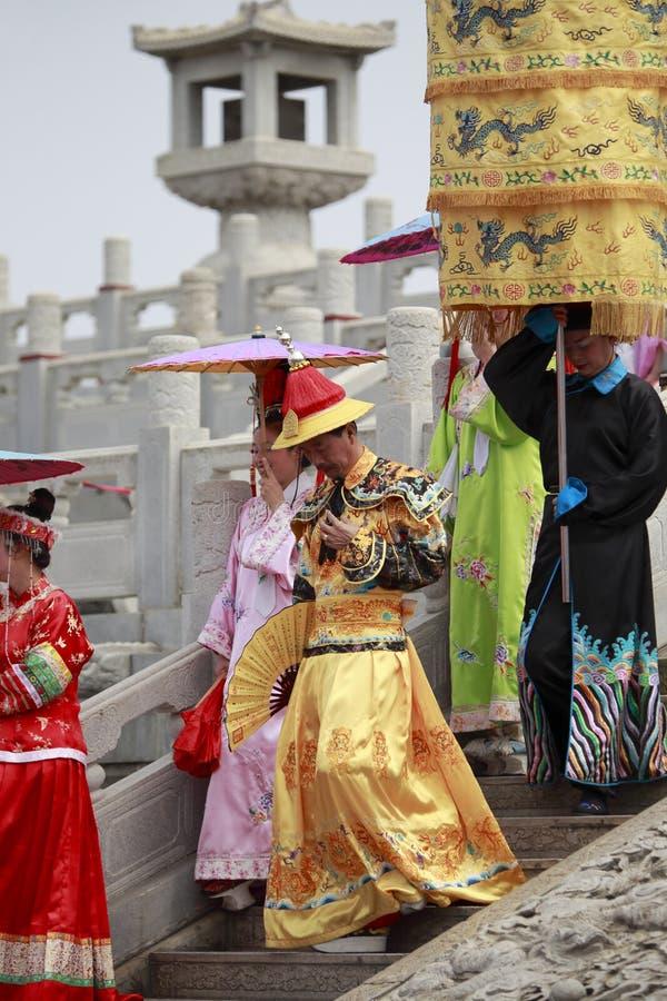Kejsare för Qing dynasti royaltyfri foto