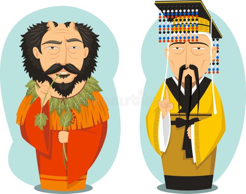 Kejsareguling och Yan royaltyfri illustrationer