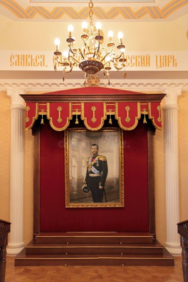 Kejsaren Nicholas II royaltyfria bilder