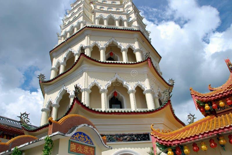 kek lok马来西亚塔槟榔岛si寺庙 库存照片