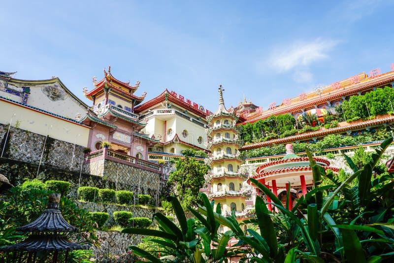 Kek Lok Si寺庙在槟榔岛海岛,马来西亚上的乔治城 免版税库存图片