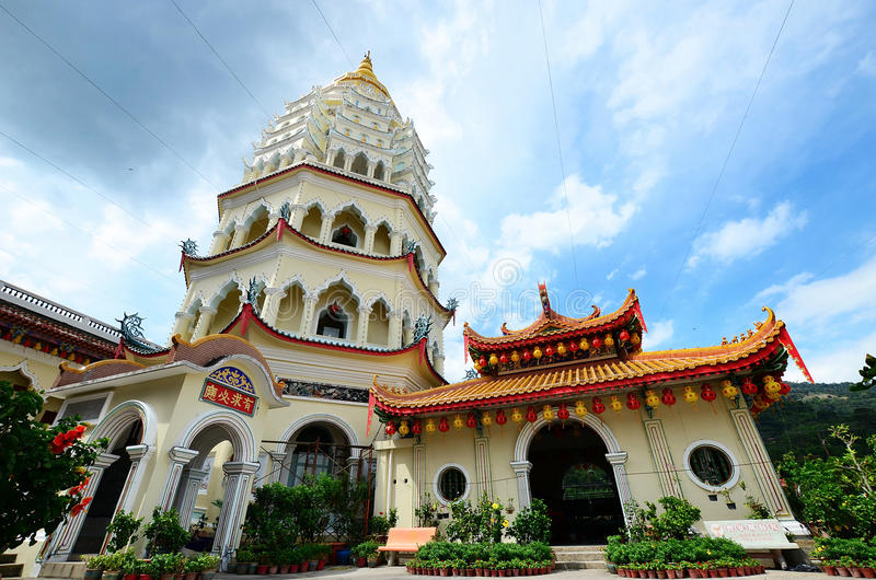 Kek Lok Si寺庙在空气Itam,槟榔岛 库存照片