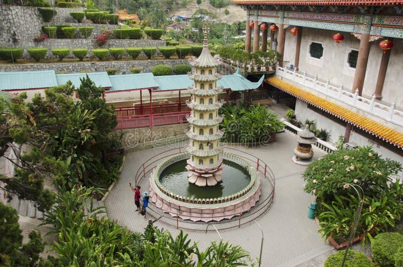 Kek Lok Si的大厦和装饰中国和佛教templ 库存图片