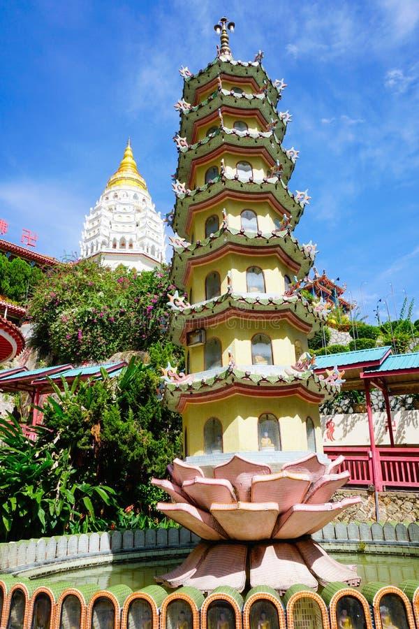Kek Lok Si świątynia w Georgetown na Penang wyspie, Malezja obraz royalty free
