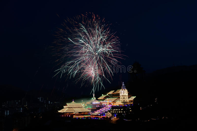 Kek Lok Si Buddhist Temple. At UNESCO's World Heritage Site of George Town, Penang, Malaysia royalty free stock image