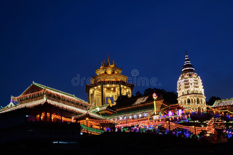 Kek Lok Si Buddhist Temple. At UNESCO's World Heritage Site of George Town, Penang, Malaysia stock image