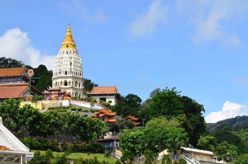 Kek Lok Si, Chińska buddyjska świątynia przy Penang, Malezja obraz stock