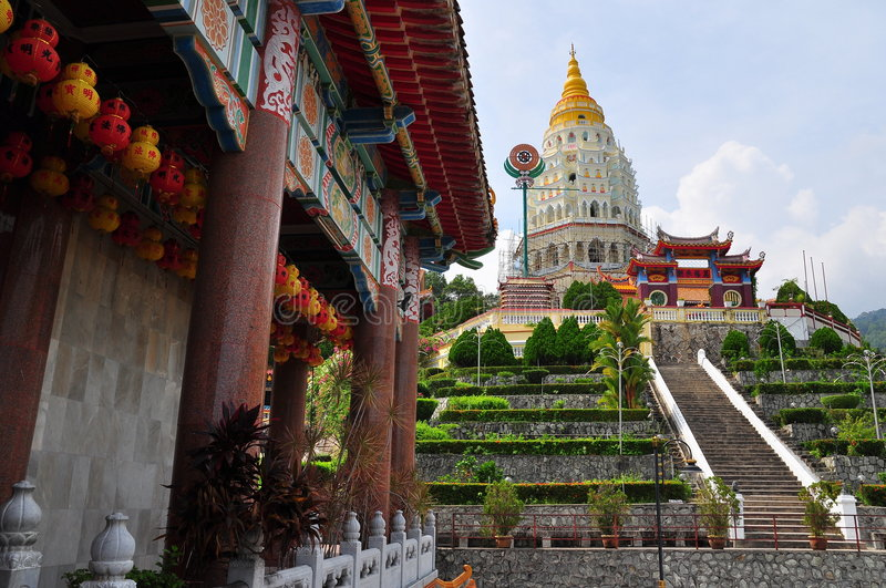 Kek Lok Si Chinese Buddhist temple. The temple of supreme bliss stock photos