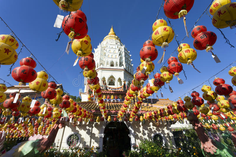 Kek Lok Si Chinese Buddhist Temple Penang Maleisië stock fotografie