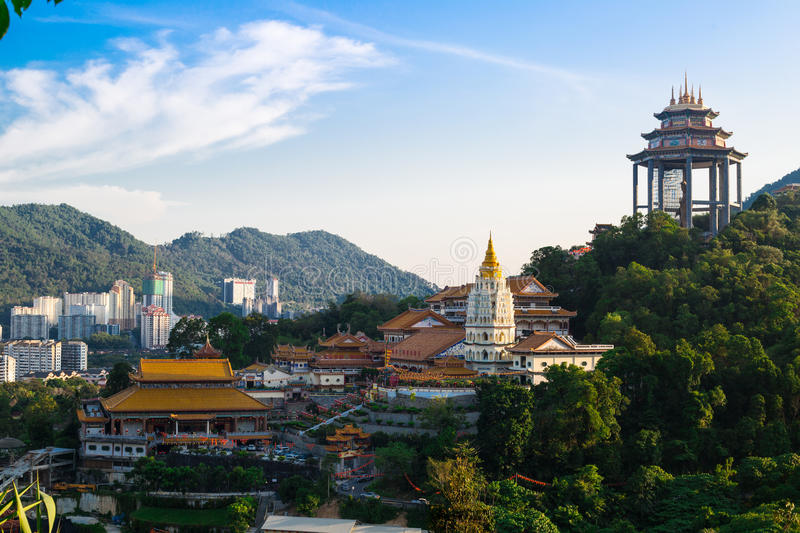 Kek Lok Si Chinese temple. With blue sky ,Malaysia, Georgetown stock images