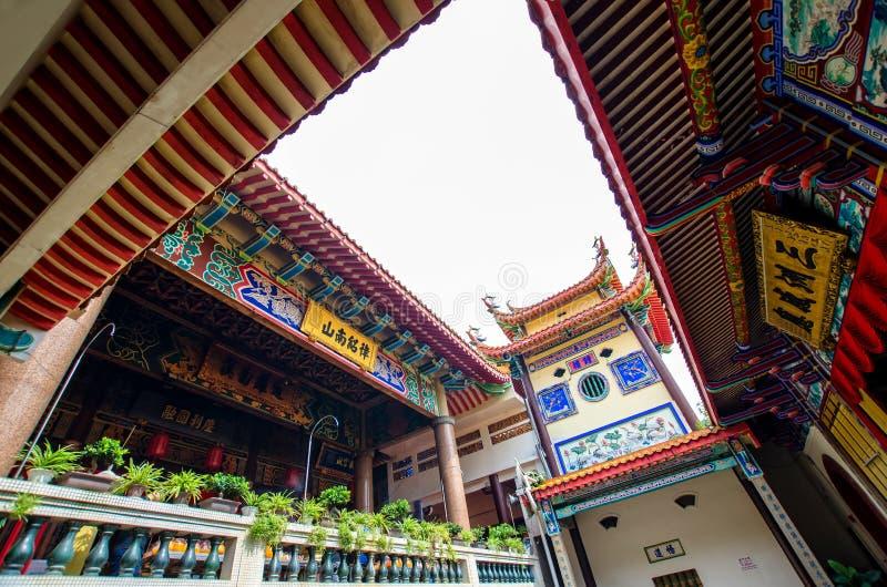 Kek Lok Si tempel en buddistisk tempel som placeras i luft Itam i Penang Det är en av de bästa bekanta templen på ön arkivbilder
