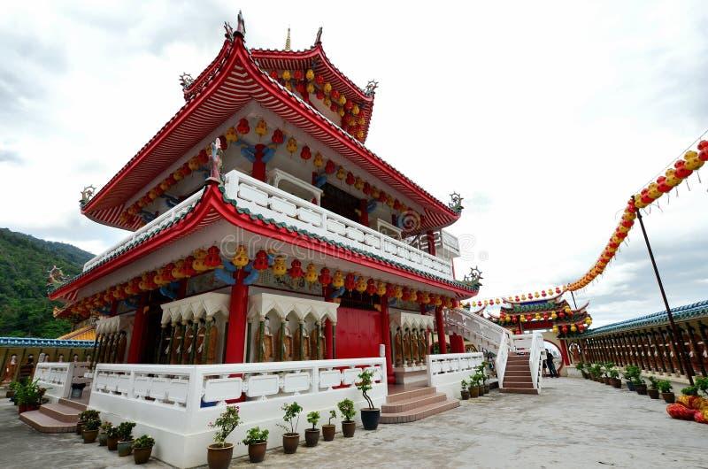 Kek Lok Si tempel in i luft Itam, Penang arkivfoto