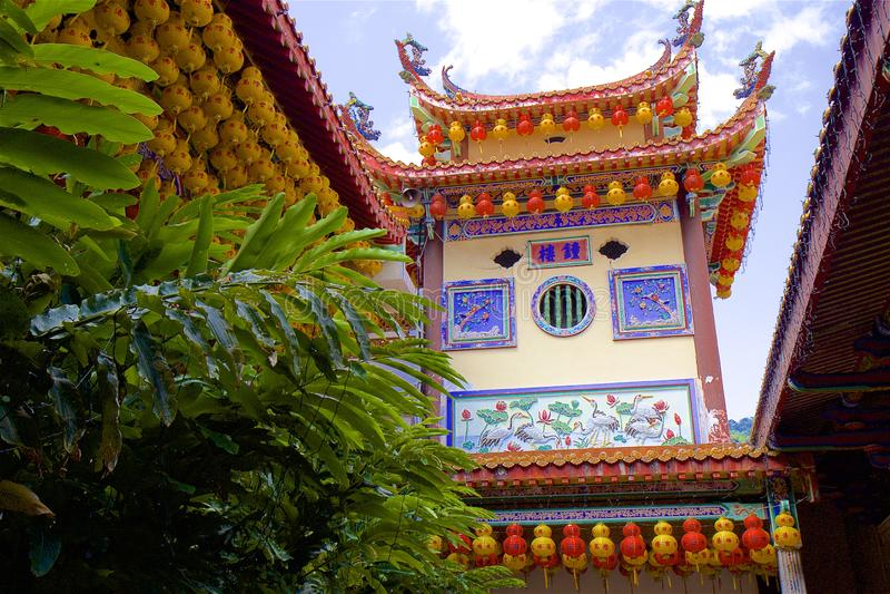 Kek Lok Si Tempel, Penang, Malaysia stockbilder
