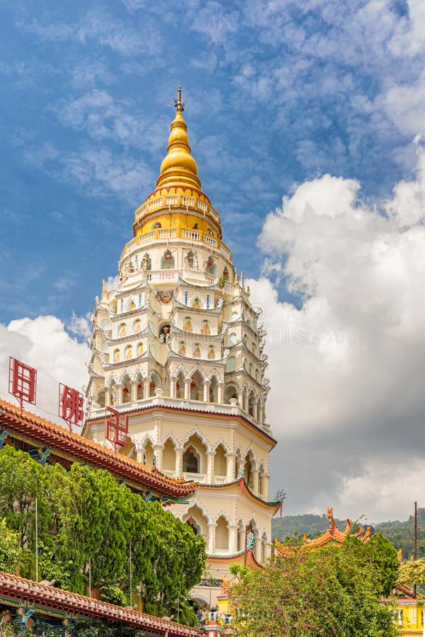 Kek Lok Si The Temple di beatitudine suprema a Penang Malesia fotografie stock