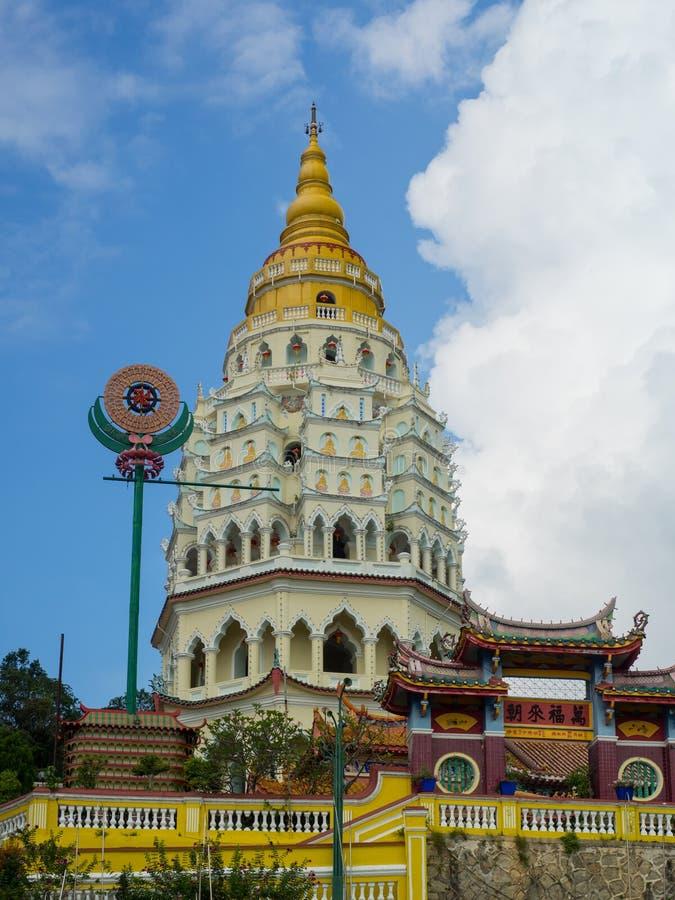 Kek Lok Si Temple en Georgetown, Penang, Malasia fotografía de archivo libre de regalías