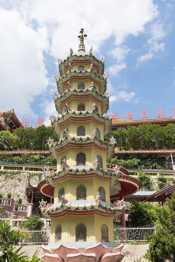 Kek Lok Si Temple en la isla de Penang, Malasia fotos de archivo