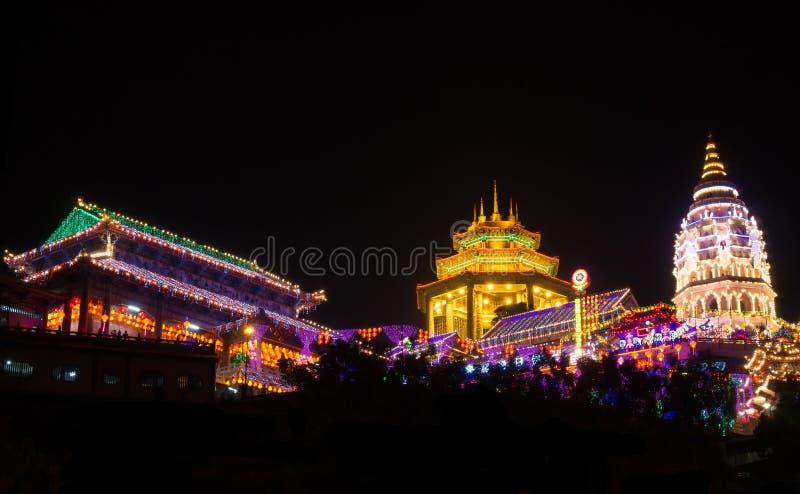 Kek Lok Si Temple, isola di Penang, Malesia immagini stock libere da diritti