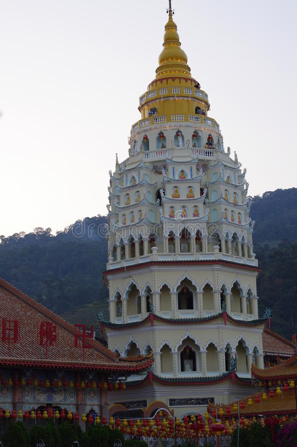 The Kek Lok Si Temple pagoda stock photography